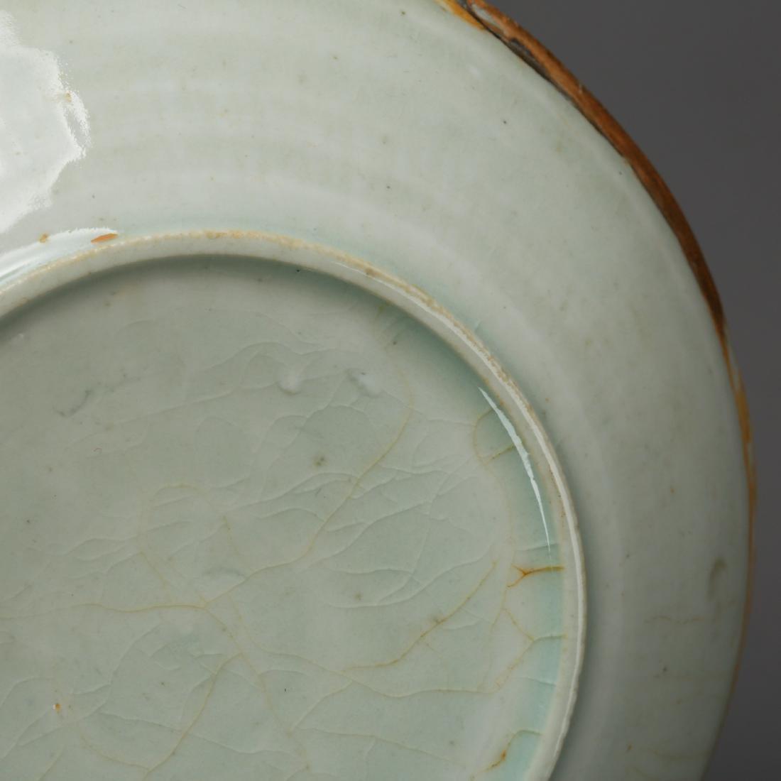 CHINESE CELADON GLAZED PLATE - 8