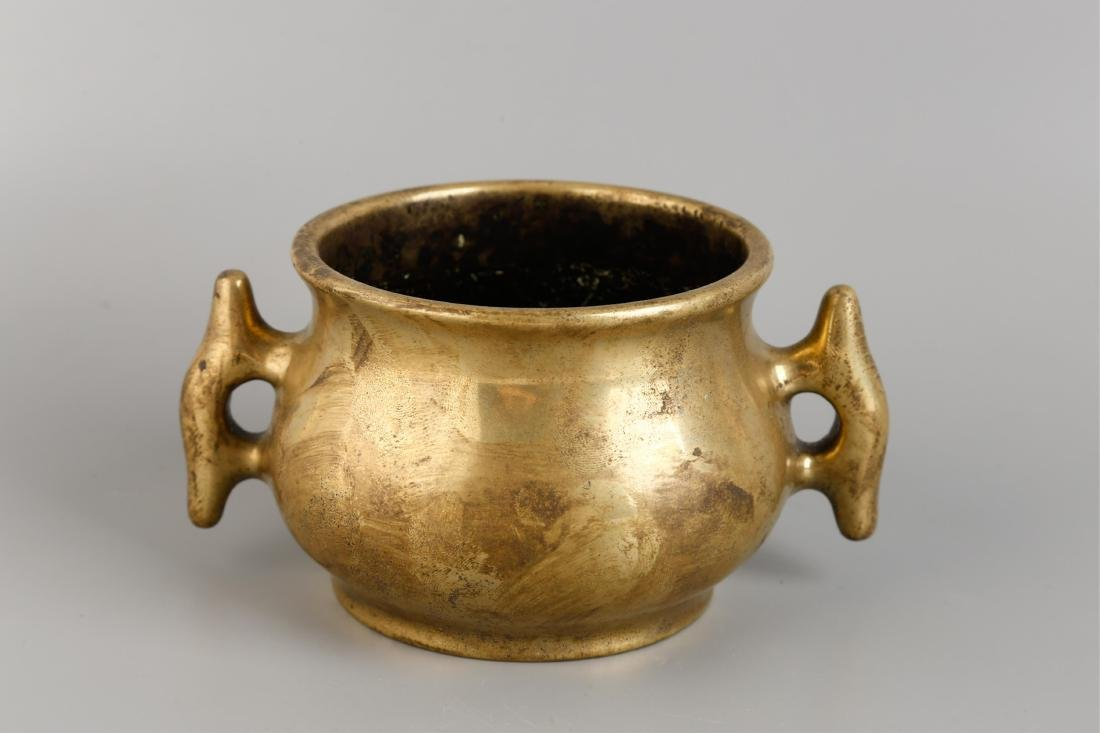 CHINESE BRONZE CENSER BURNER WITH MARK