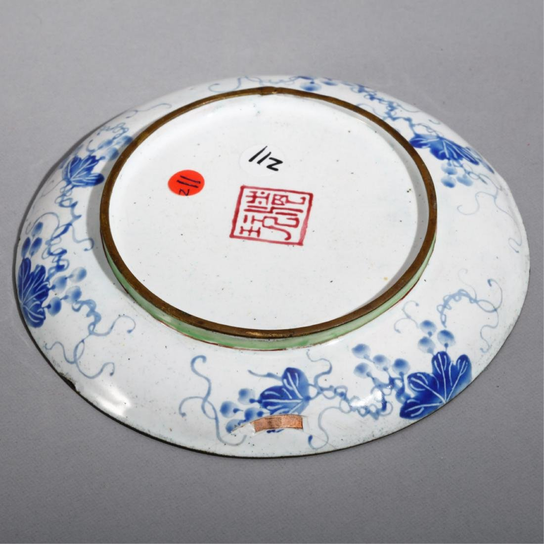 CHINESE BRONZE ENAMELS PLATE - 3
