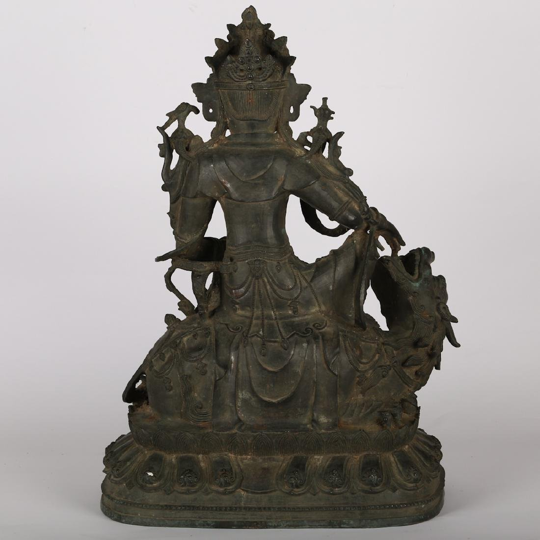 CHINESE BRONZE FIGURE OF GUANYIN, MING DYNASTY - 7