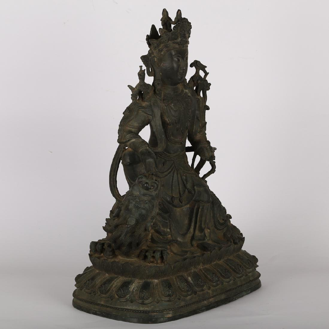 CHINESE BRONZE FIGURE OF GUANYIN, MING DYNASTY - 9