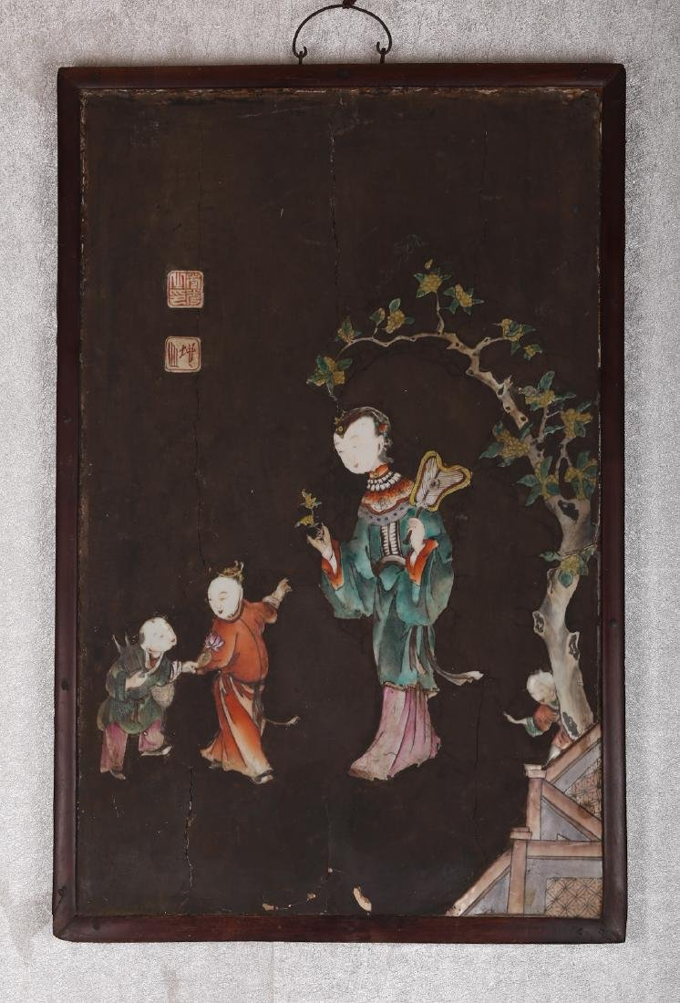 CHINESE LACQUER WOOD WALL PANEL