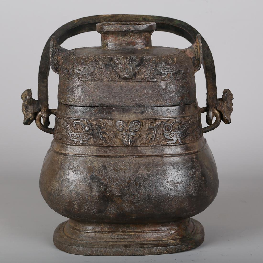 CHINESE BRONZE ARCHAIC STYLE VESSEL