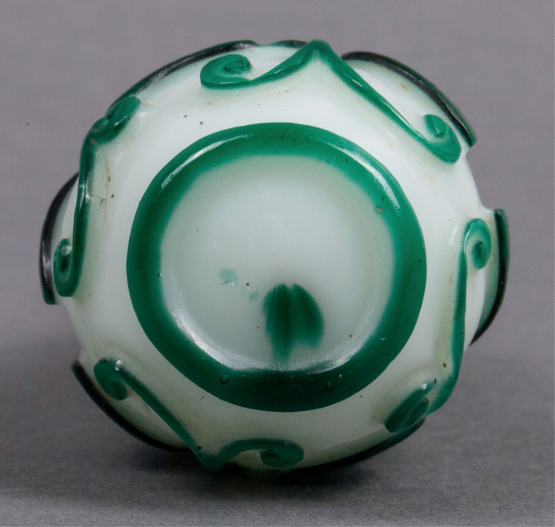 CHINESE QING DYNASTY SNUFF BOTTLE AND PIPE STEM - 4