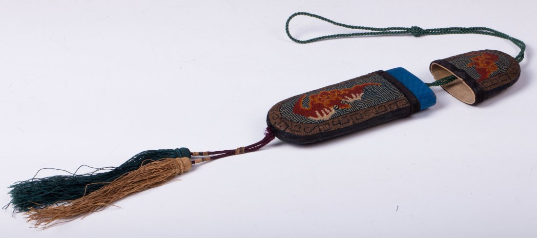 CHINESE EMBROIDERY GLASSES CASE - 6