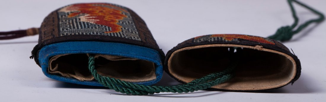 CHINESE EMBROIDERY GLASSES CASE - 7