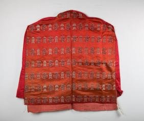 CHINESE SILK EMBROIDERY BACK SEAT COVER