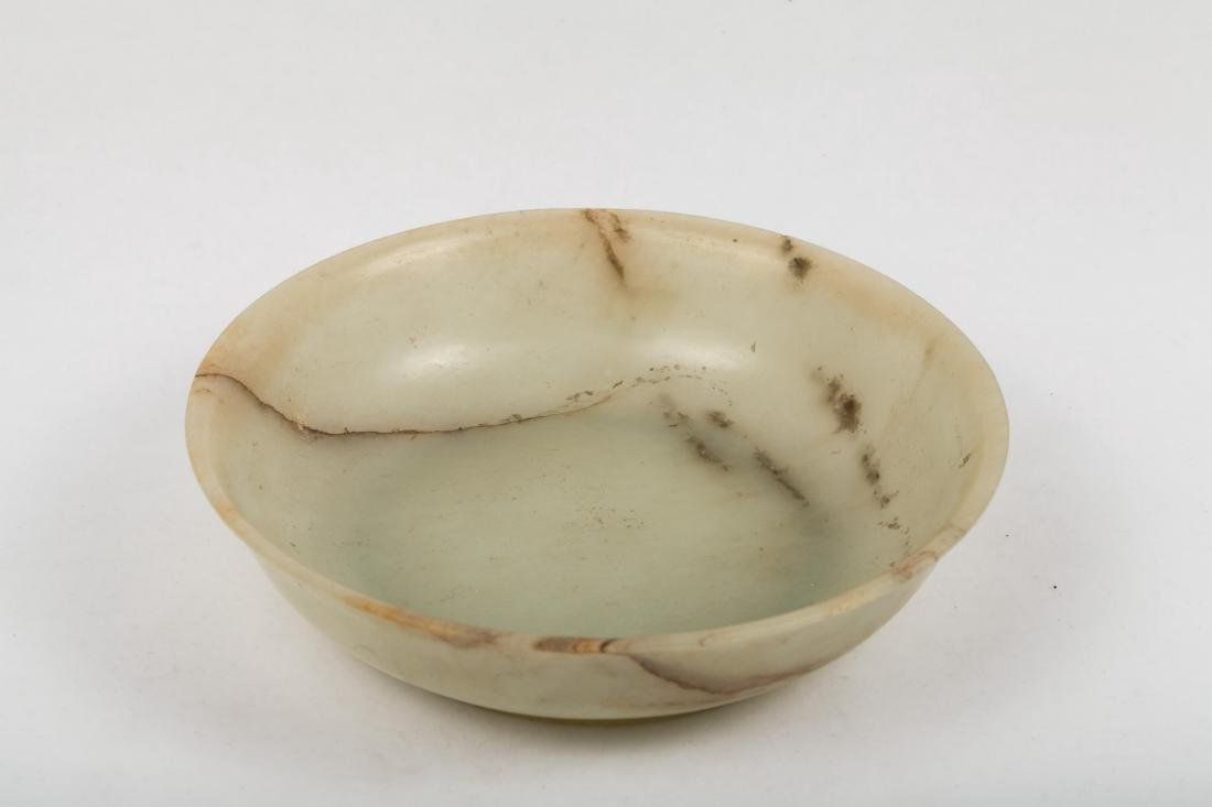 CHINESE CELADON JADE BOWL WITH MARK ON BOTTOM