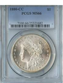 1880-CC $1 MS66 PCGS Carson City Silver Dollar