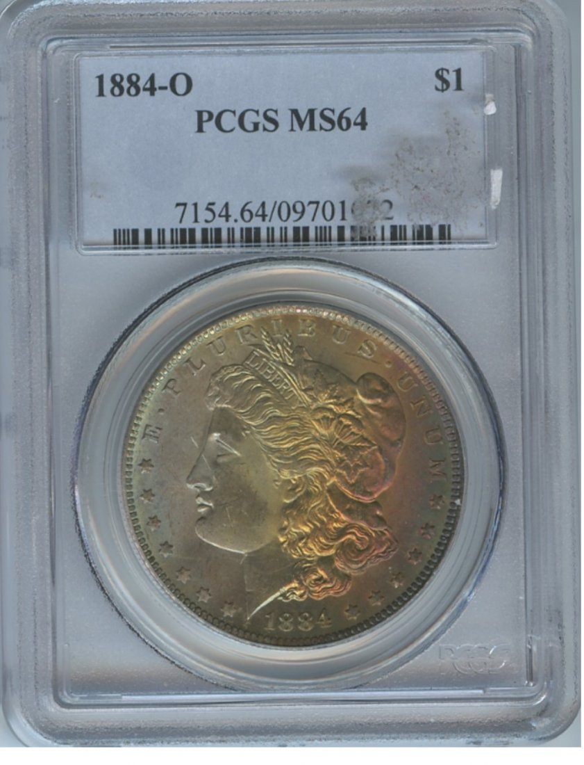 1884-O $1 MS64 PCGS Wow Toned Color Silver Dollar