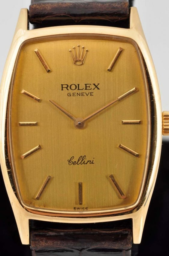 ROLEX CELLINI 18K YELLOW GOLD GENTLEMAN WATCH