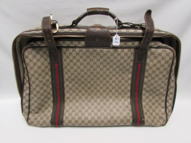 GUCCI LARGE MONOGRAM TRAVEL SUITCASE