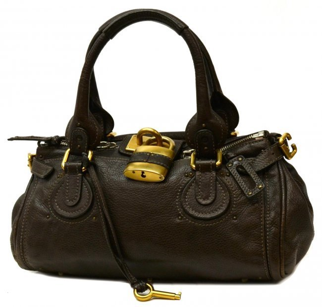 CHLOE DARK CHOCOLATE BROWN PADDINGTON MM PURSE