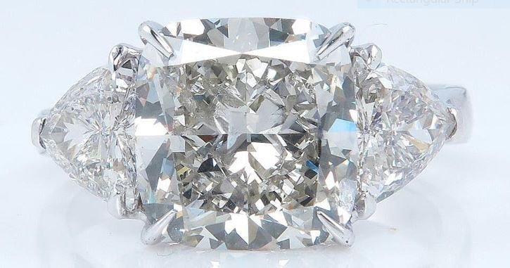 6.63CTS VINTAGE SQUARE CUSHION CUT DIAMOND PLATINUM