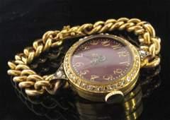 18K YG Ladies Antique Bracelet Watch