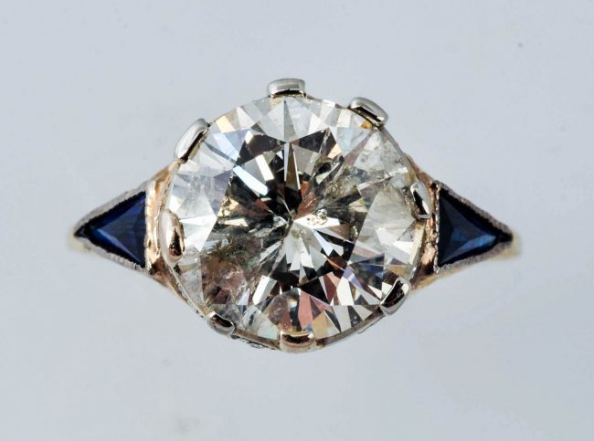 Near 3.35ct Diamond Solitaire Ring