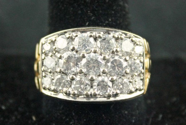 4 CARATS DIAMOND MEN's RING, SIZE 12