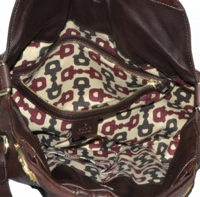 GUCCI Brown Monogram embossed Hysteria Hobo Bag - 3