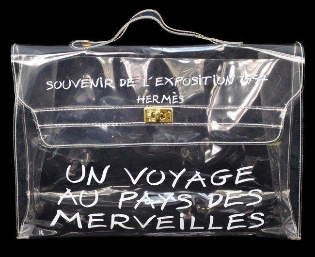 "HERMES Clear DE L'EXPOSITION ""Kelly"" Bag"