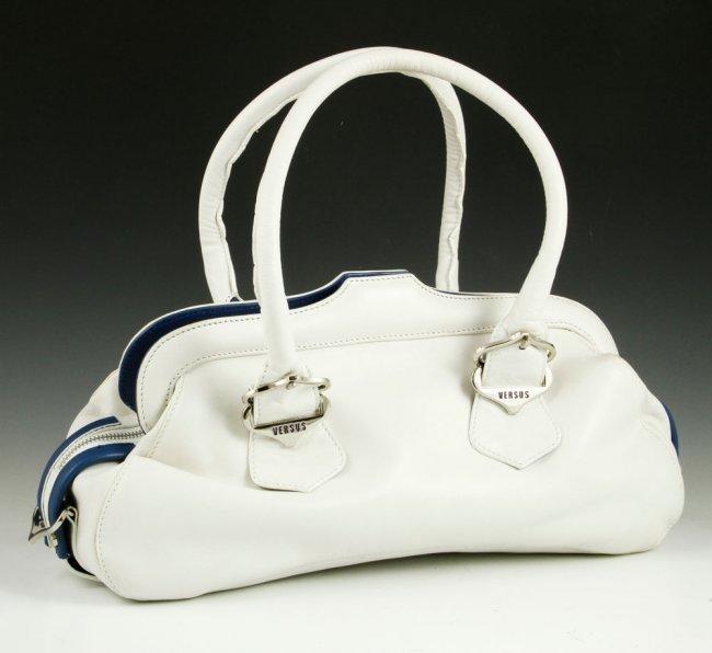 Versace White Buffalo Leather Bag