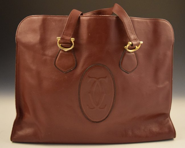 EMBOSSED LEATHER LES MUST DE CARTIER TOTE