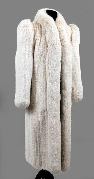 Gorgeous Full Length Vintage White Fox Fur!