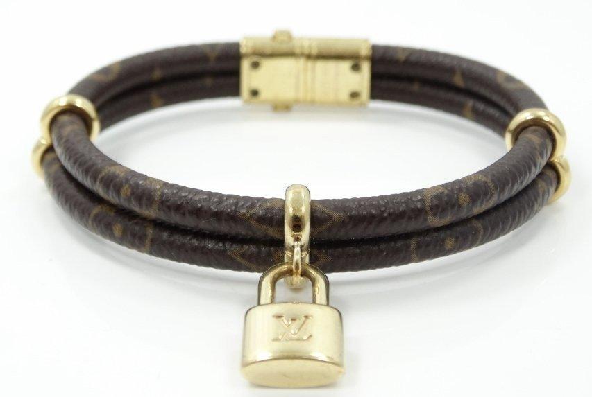 Louis Vuitton Monogram Leather Bracelet