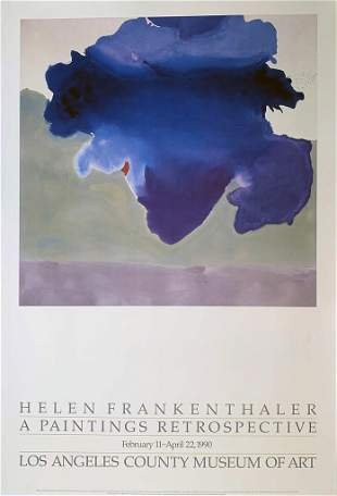 Helen Frankethaler, A Paintings Retrospective, Los