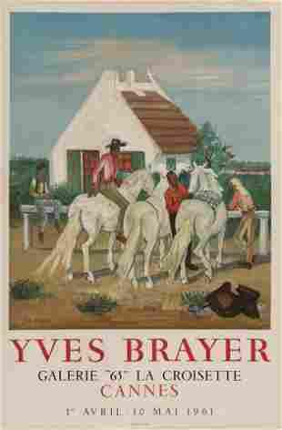 """Yves Brayer, Galerie """"65"""" La Croisette Poster"""