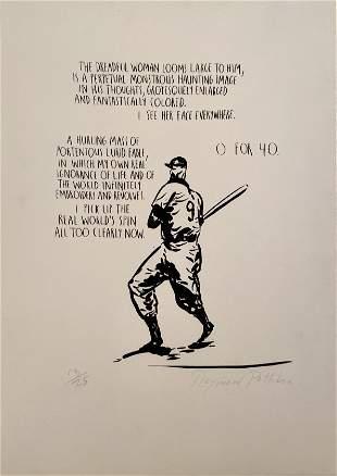 "Raymond Pettibon,""0 for 40"" Print"