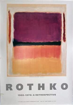 Mark Rothko, LACMA Rare Poster