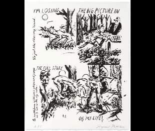 Raymond Pettibon, Rare Un-Cut Print, Whitney Musuem