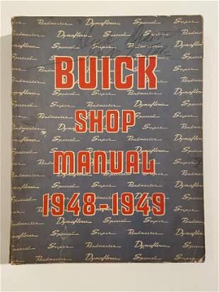 Buick Shop Manual, 1948-1949