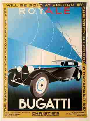 Bugatti Type 41 Royale Coach by Kellner Art Deco Poster