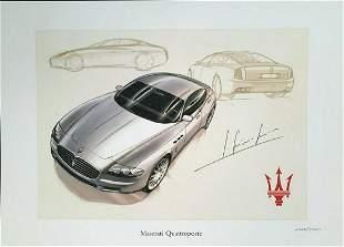 Factory Maserati Quattroporte Launch Fine Art Print