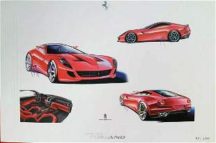 Factory Ferrari Original Drawings Limited Edition Print
