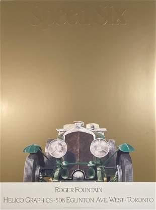 Bentley Speed Six Embossed Poster