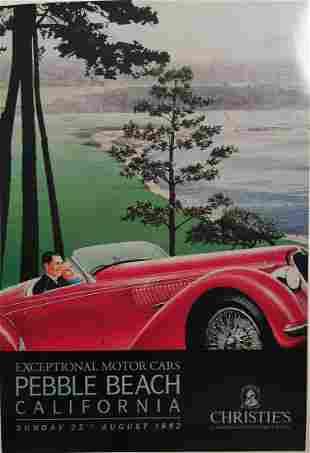 Pebble Beach Alfa Romeo  2900 Poster by Ken Eberts