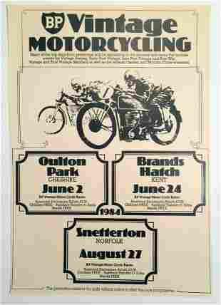 1984 British Vintage Motorcycling Poster