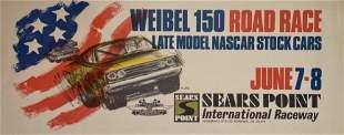 Weibel 150 Sears Point Raceway Poster NASCAR