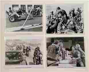 1971 Black and White Outlaw Biker Movie Studio Photos
