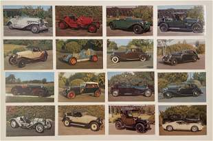 Briggs Cunningham Auto Museum Full Postcard Set