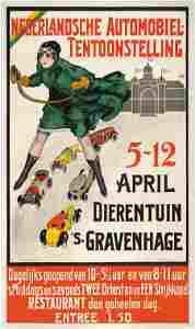 Nederlandsche Automobiel, 1911 Vintage Poster