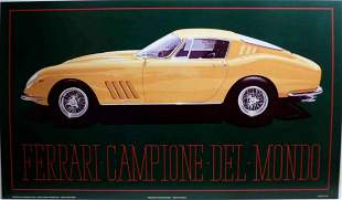 1967 Ferrari  275 GTB 4 Poster by Harold Cleworth