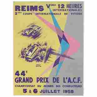44E Grand Prix de L.A.C.F. Vintage race event poster