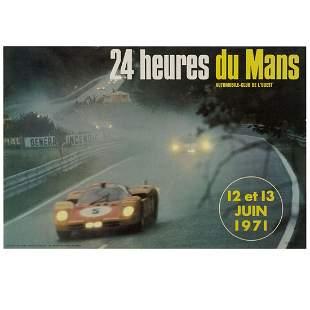 1971 24 Heures du Mans (Le Mans) Original Event Poster