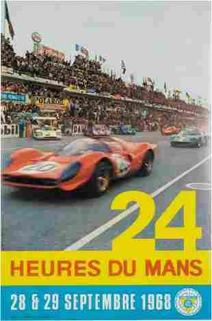 24 Heures du Mans, 28 & 29 1968, Official rare Poster