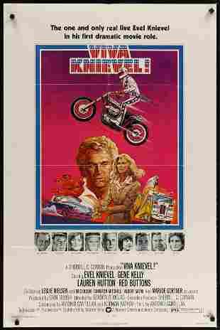 VIVA KNIEVEL, 1977  An Original Vintage Movie Poster