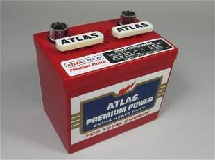 Two Car Battery Transistor Radios.  Atlas Premium Power