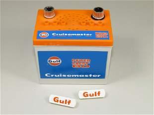 Three Car Battery Transistor Radios.  Gulf Oil, Co_op,